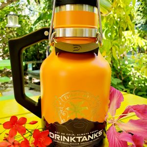 32oz orange drink tank with logo