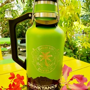 64oz green drink tank with logo