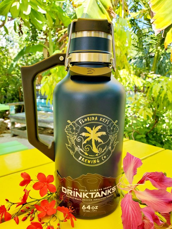 64oz navy drink tank with logo