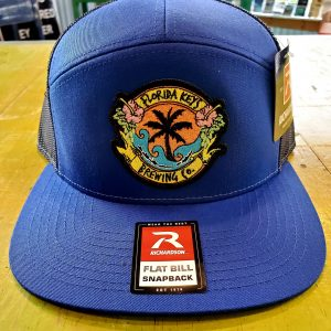 Black and Blue Flat bill snap back