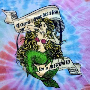Tie dye mermaid