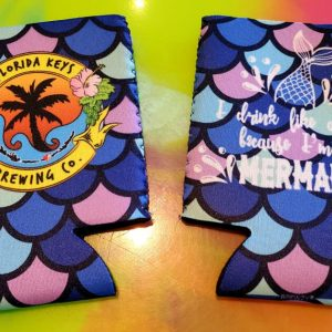 mermaid can koozie