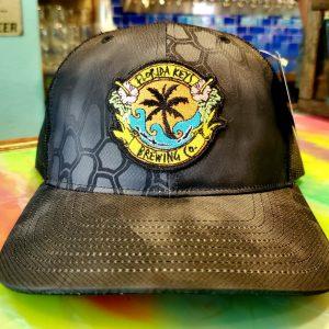 fish scale hat black